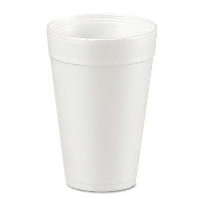 Foam Drink Cups, 32oz, White, 25/Bag, 20 Bags/Carton - DCC 32TJ32