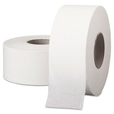 JRT Jumbo Roll Bathroom Tissue, 1-Ply, 9'' dia, 2000ft, 12/Carton - KCC 07223