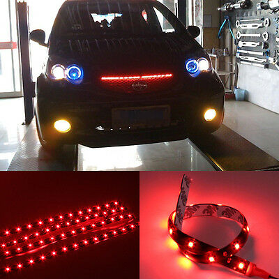 Sale Waterproof 4pcs 30cm  Red  LED  Car Truck  Motors Flexible Strip Light 12V