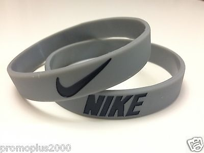Nike Sport Baller Band Grey w/Black Silicone Wristband - Buy 3 Get 2 Free !