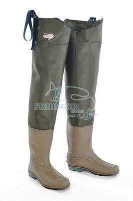 Fishingsir 100% Waterproof Breathable PVC Hip Bootfoot Hunting Waders, Size 8-11