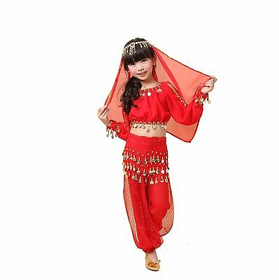girls belly dancer costume  for Kid Long sleeve Costumes set