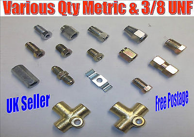 3 Way 3//8UNF Brake Tube Connector with 3 Unions for Triumph Herald Vitesse 61-71