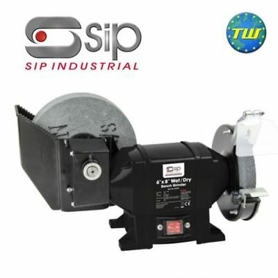 SIP 6 x 8 Wet and Dry Stone Bench Grinder 0.5Hp 375W Motor 240V 13amp 07576