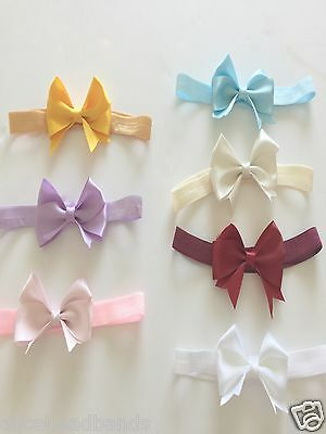 Baby Girl Bow Headband Satin Bow Soft Elastic Band Variety Hair Accessories +Lot