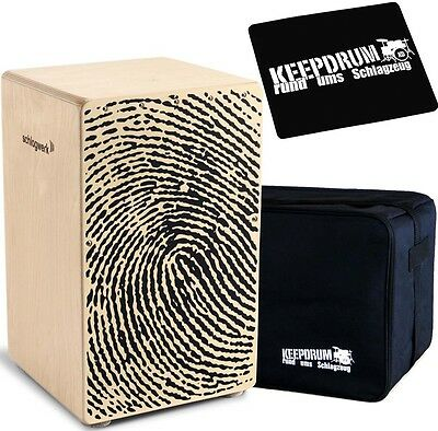 Schlagwerk CP 107 X-One Fingerprint Cajon + KEEPDRUM Gig Bag + Pad CP-01