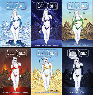Lady Death #17 Sdcc Set-Limited To 250!