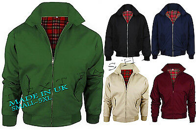 MEN CLASSIC MOD COAT HARRINGTON SCOOTER JACKET 1970's RETRO BOMBER JACKET S- 5XL