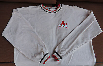 Vintage Bass Ale Long Sleeved White Shirt  Mens Large