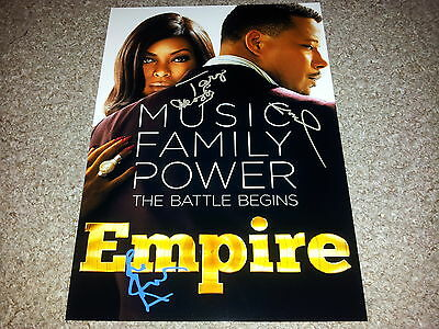 "Empire Pp Cast X3 Signed 12""x8"" A4 Photo Poster Terrence Howard Tv Show"