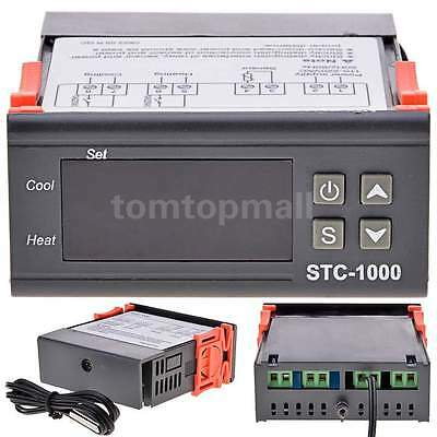 Digital STC-1000 110-220V Temperature Controller Thermostat With Sensor