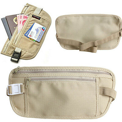Ultra Thin Waist Fanny Pack Bag Adjustable Belt Pouch Safe Outdoor Travel Sports