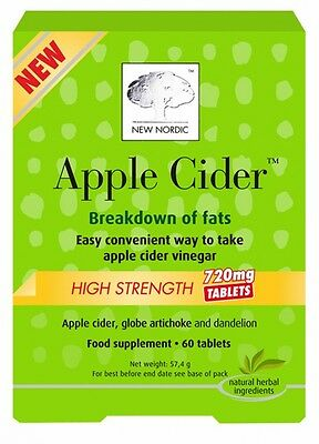 New Nordic Apple Cider 720mg High Strength 60 tablets