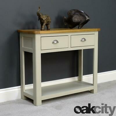 Aspen Painted Oak Console Table With Shelf / 2 Drawer Hall Table / Brand New