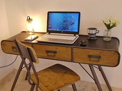 Stunning Urban Vintage Style Console table/computer Desk & Chair set 3385/3384