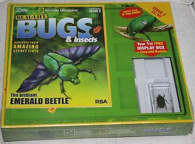 National Geographic Real Life Bugs & Insects Magazine Issue 2 Emerald Beetle Bug