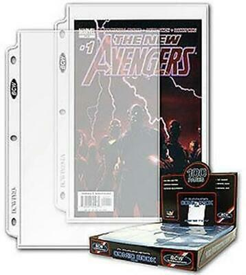 Case of 1000 BCW Pro 1 Pocket Current / Silver Age Comic Book Binder/Album Pages