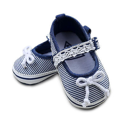 Baby girls Sailor Stripes Style Ankle Strap Summer Elegant Mary Jane Shoes 0-18M