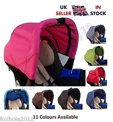 Universal Wind Shield Sun Canopy Shade Hood Car Seat Waterproof In 11 Colours