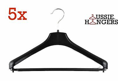 5x Suit Hangers Heavy Duty 430mm Commercial Jacket Pants Clothing Coat R50M
