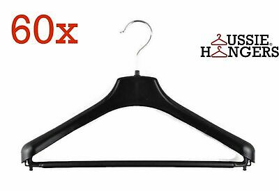 60x Suit Hangers Heavy Duty 460mm Commercial Jacket Pants Clothing Coat R50L