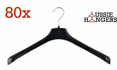 80x JACKET HANGER Heavy Duty 430mm Commercial Pants Clothing Coat BULK R51M