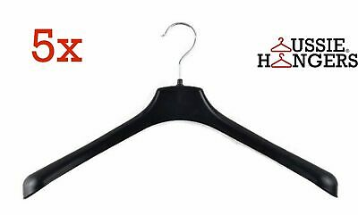 5x JACKET HANGER Heavy Duty 430mm Commercial Pants Clothing Coat BULK R51M