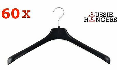 80x JACKET HANGER Heavy Duty 460mm Commercial Pants Clothing Coat BULK R51L
