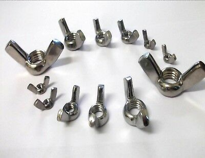 A2 Stainless Steel Butterfly/wing Nuts M3 M4 M5 M6 M8 M10 M12