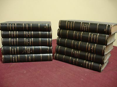 10 Vols. Ca1850-1895. Reformation. Wickliff/Ridley/Foxe/Latimer/Coverdale