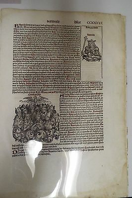 1493 Leaf from the Book of Chronicles