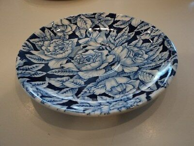 MYOTT SON & CO. SAUCER FOR CUP / BERMUDA BLUE & WHITE PATTERN