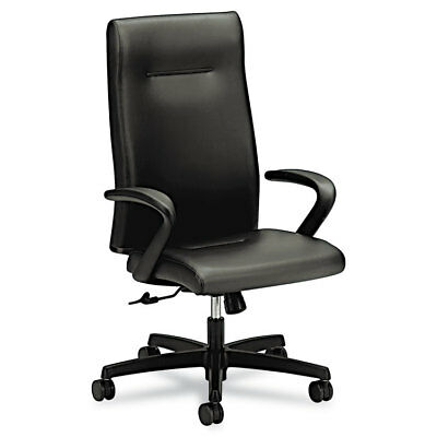 Ignition Series Executive High-Back Chair, Black Leather Upholstery