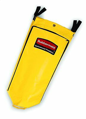Vinyl Cleaning Cart Bag, 34 gal, Yellow, 17 1/2w x 10 1/2d x 33h - RCP 9T80 YEL