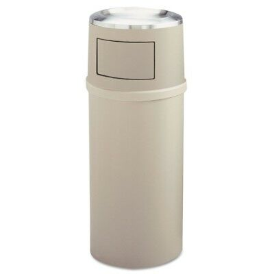 Ash/Trash Classic Container w/Doors, Round, 25 gal, Beige - RCP 8180-88 BEI