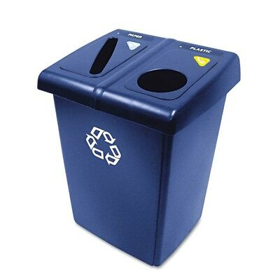 Glutton Recycling Station, Two-Stream, 46 gal, Blue - RCP 1792339