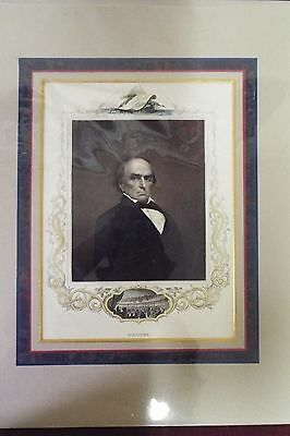 Hand Colored Engraving - Daniel Webster -  Original