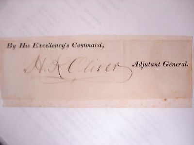 Henry K. Oliver 19th Century Cut Signature - Bible