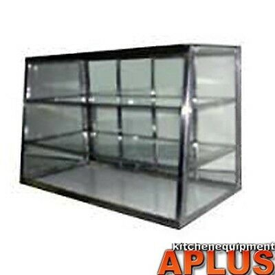 Carib Countertop Dry Bakery Display Case - Tapered Glass Showcase with Shelf 4T