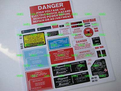 Ghostbusters -  Proton  Pack & Goggles  - Sticker  Decals