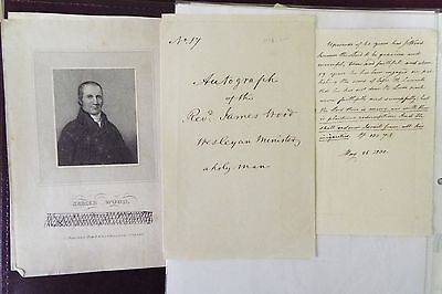 James Wood 1830 Signed Sheet