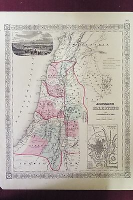 Johnson's map of Palestine - Undated