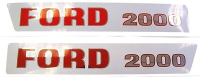 Ford 2000 1965-1968 3-cyl Tractor Basic Hood Decal Set