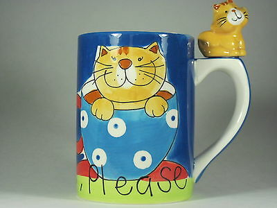 Indra Smiling Cat Mug Coffee Please