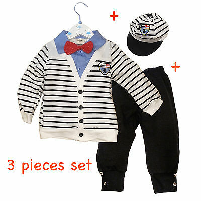 Baby Boy Toddlers Smart Casual 3pcs Summer Wedding Formal Outfit Set (6-24M)