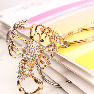 Scorpion Lovely Pendent Charm Crystal Purse Key Ring Chain Creative Collection