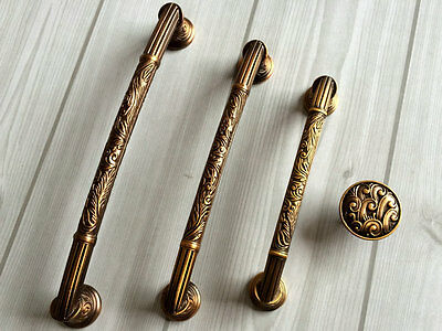 Antique Brass Dresser Knobs Drawer Pull Cabinet Door Knob Handles 96 128 160 192