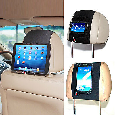 TFY Car Headrest Mount Holder for Smartphone Tablet PC i Phone i Pad Mini