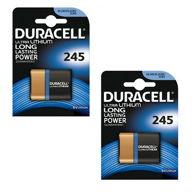 1/2 x Duracell 2CR5 DL245 Ultra M3 Photo Lithium 6v Camera Battery EL2CR5 2024