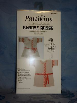 Pattikins Complete pattern & Fabric Kit BLOUSE RUSSE for Bleuette